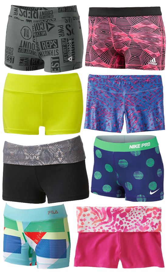 8 Short Shorts to Rock to Yoga @Kelly Teske Goldsworthy Teske Goldsworthy Teske Goldsworthy frazier Rudd These are adorable and we need them