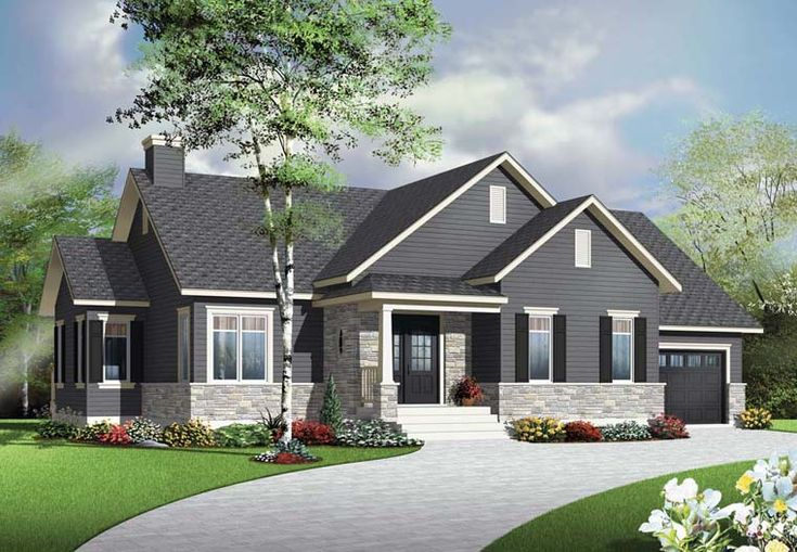 House Plan 76345 | Country   Craftsman    Plan with 1313 Sq. Ft., 2 Bedrooms, 1 Bathrooms, 1 Car Garage