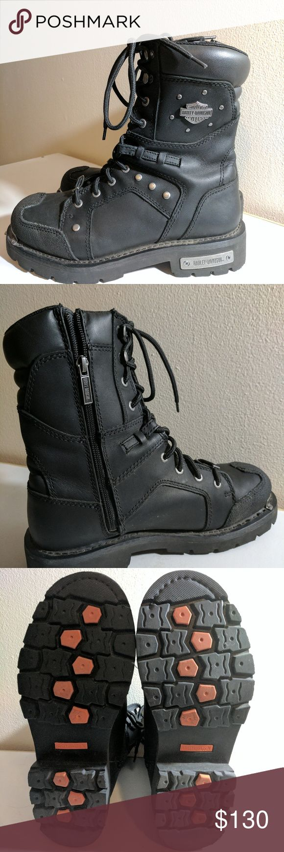 Harley Davidson Women's Riding Boots Women's leather riding boots. Harley-Davidson Shoes Combat & Moto Boots
