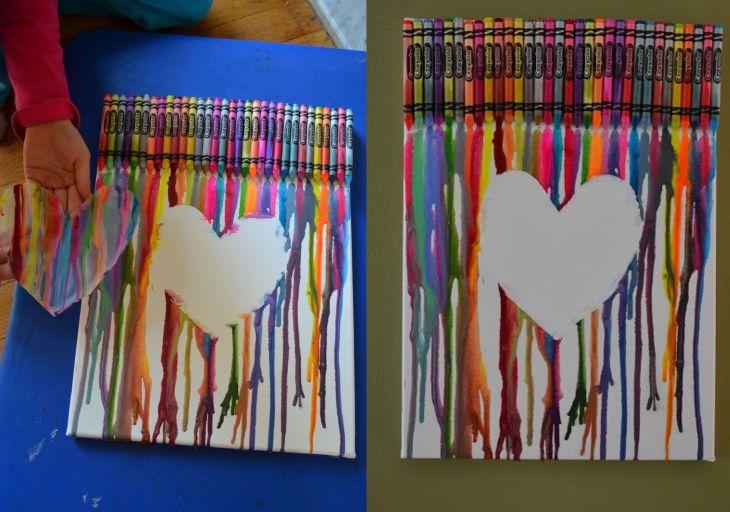 101 best art crayon melt technique images on pinterest for Melted crayon art techniques