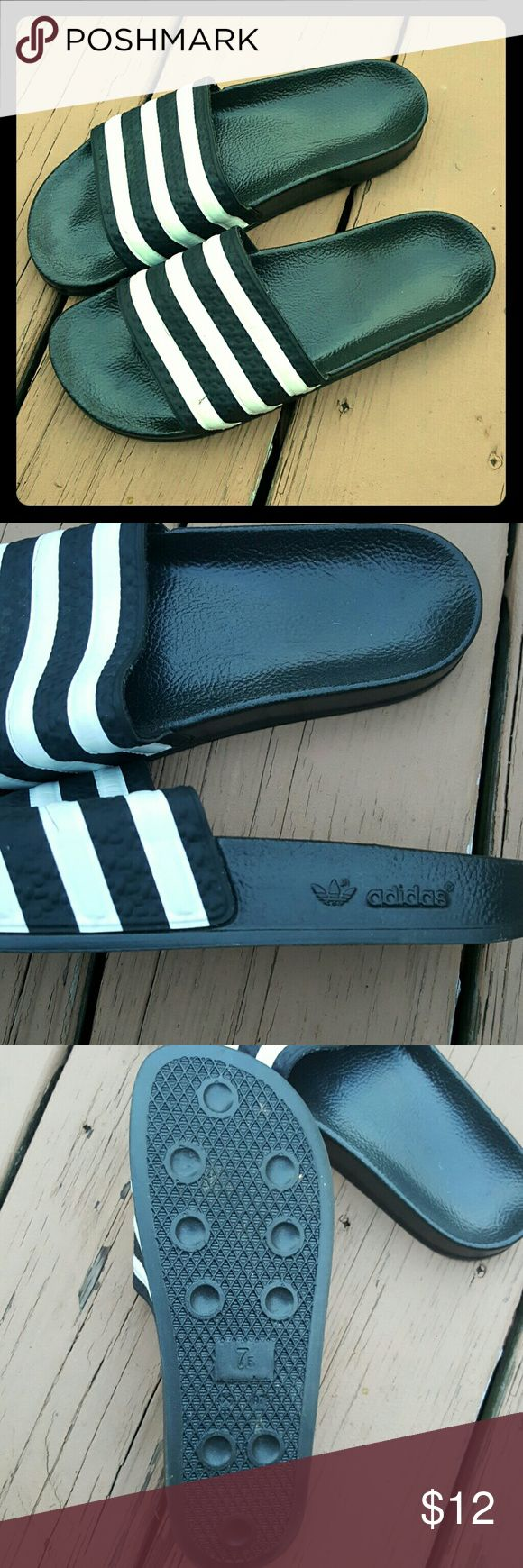 Adidas Adilette Sandals Adidas Adilette Sandals. Great for swimmers and athletes. Good condition! Only worn once or twice. Adidas Shoes Sandals