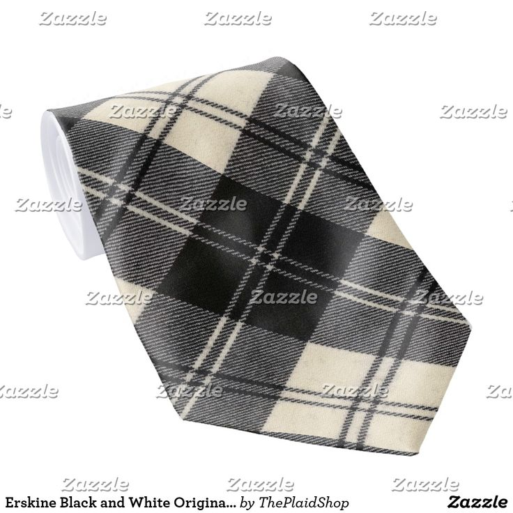 Erskine Black and White Original Scottish Tartan Tie Thank you so much to the purchaser from France for buying this beautiful tie!