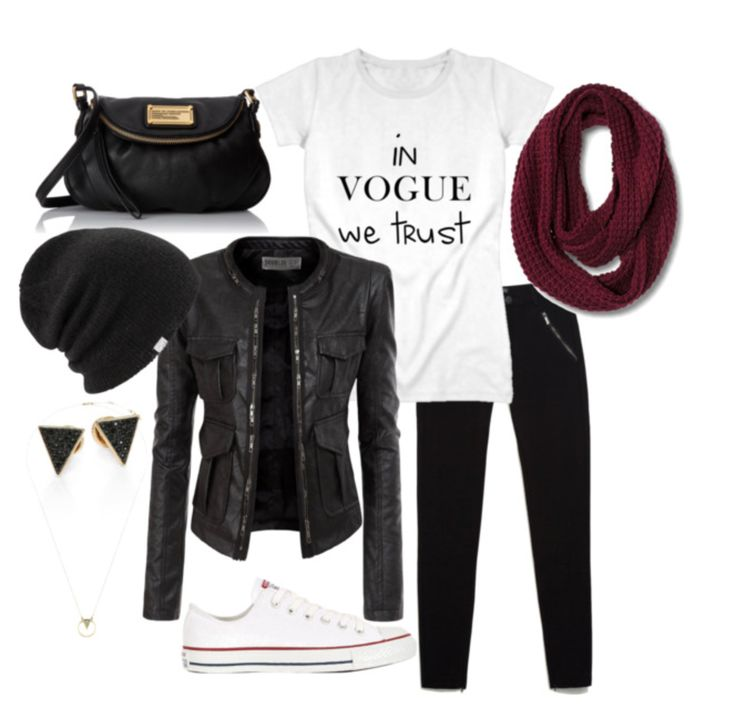 Get the look. Casual autumn outfit for university days.