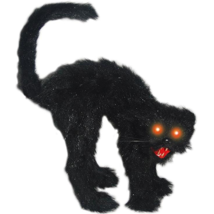 Buy Cheap Scaredy Cat with Light Up Eyes - Foam, Faux Fur, Plastic