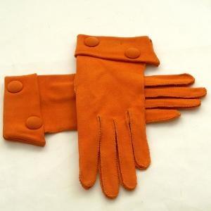 orange button gloves