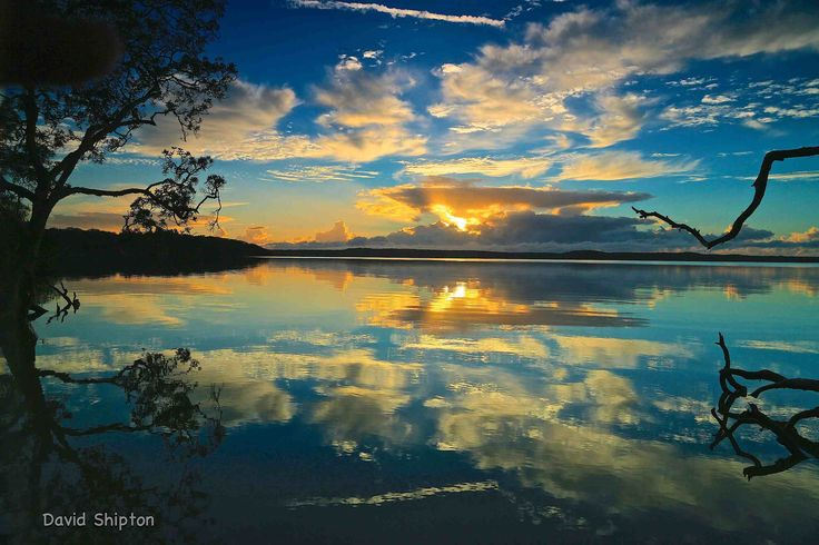 lake weyba | calm morning and lots of multi level cloud made for plenty of ...