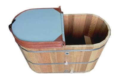 OFURO bath tub supplied with thermal solar heating to South Australia