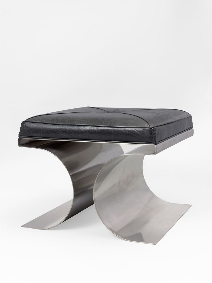 Michel Boyer, Stool, Steel And Leather, 1968, Thomas Fritsch U2013 Artrium