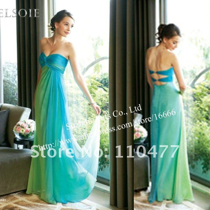 Turquoise and Lime Green Wedding Dress_Wedding Dresses_dressesss