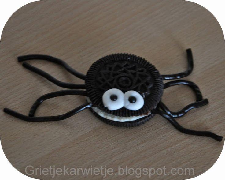 Grietjekarwietje.blogspot.com: Traktatie oreo spinnetjes