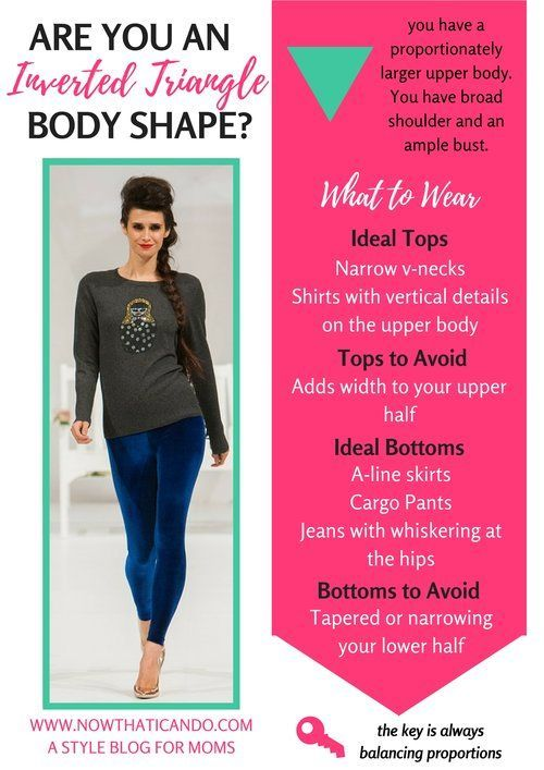 Are you the inverted triangle body shape? How to dress your mom body after kids to look your best! See all 8 body shapes on the blog post... love this helpful guide! Tips for my body shape and what to buy to flatter my curves. This blog is especially for moms, so encouraging! #bodytype #bodyshape #mom #fashion #tips #ideas #easy #clothes #style #Plussize