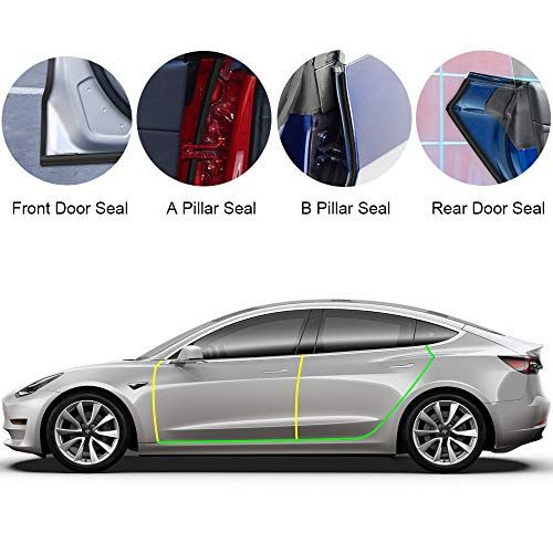 Basenor Tesla Model 3 Door Seal Kit Soundproof Rubber Weather