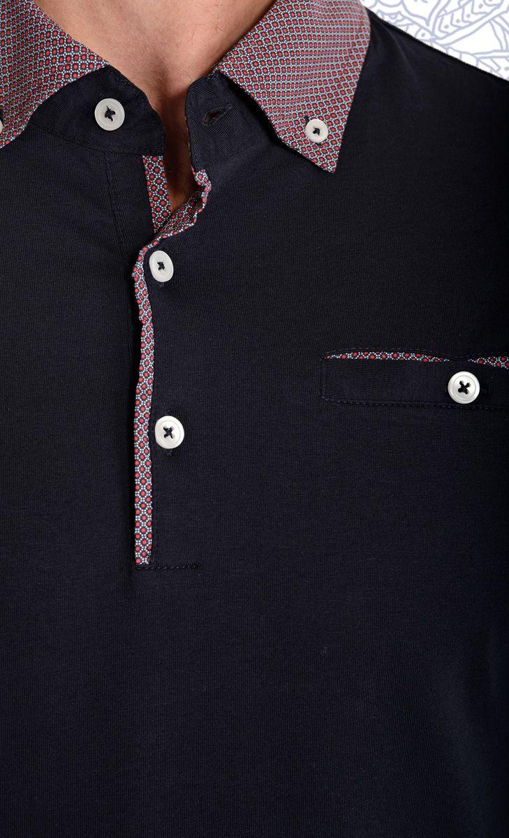 Mavango Blue Full Sleeve Polo | Mavango Fashion eStore