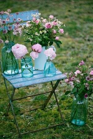 Pink Turqoise Decor And Detail Inspiration For A Tea Party Style Wedding