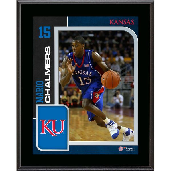 "Mario Chalmers Kansas Jayhawks Fanatics Authentic 10.5"" x 13"" Sublimated Player Plaque - $29.99"