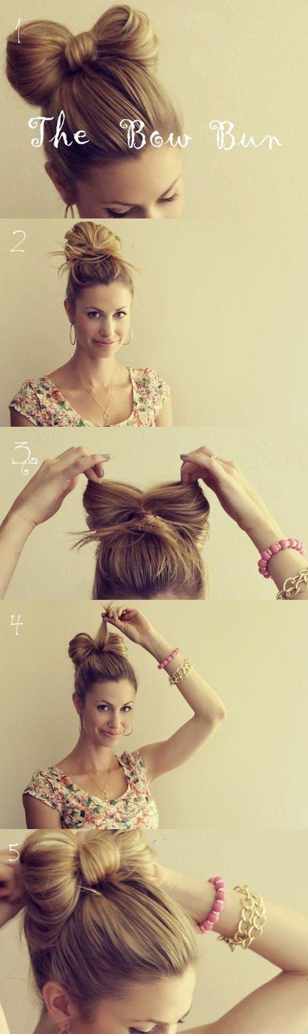 Easy Bun Hairstyles for Long Hair and Medium Hair42…