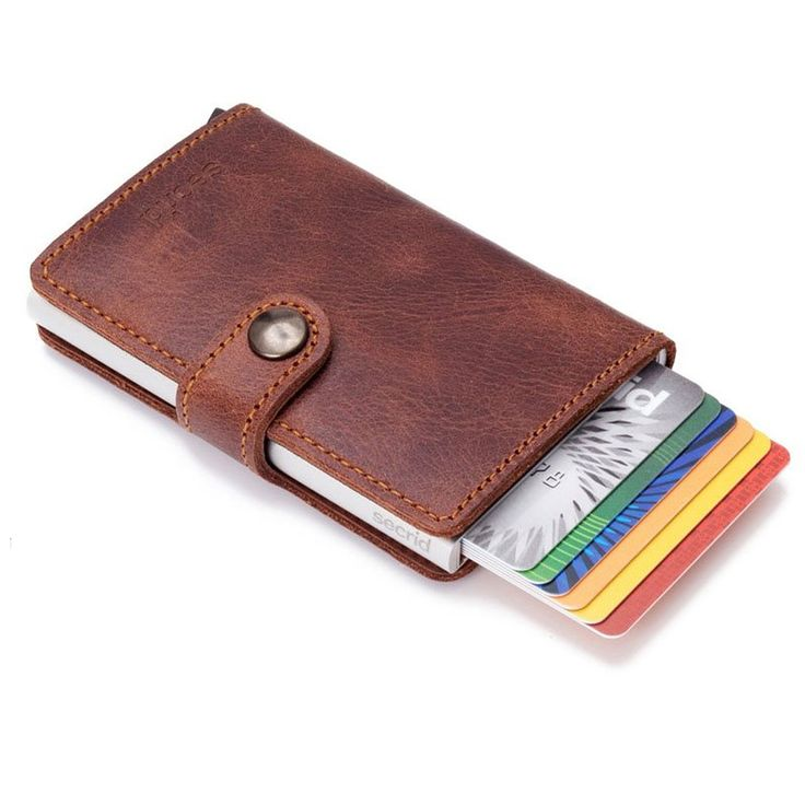 Personal Edge : Secrid MV-BROWN Mini Wallet - Vintage Brown
