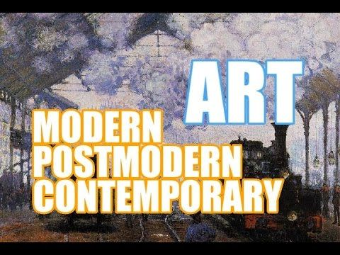 The Difference between Modern art, Postmodern art and Contemporary Art - YouTube