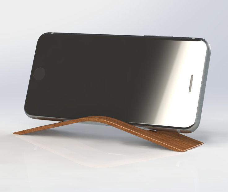 Wood iPhone Stand, Handmade Phone Dock, Modern Phone Holder, Cell Phone Stand, Wood Smartphone Stand by SycamoreCreations1 on Etsy