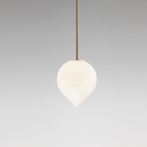 minimalist lighting. Michael Anastassiades, Bob - Pendant Rod, 2015 Polished Brass, Mouth Blown Opaline Glass Minimalist Lighting R