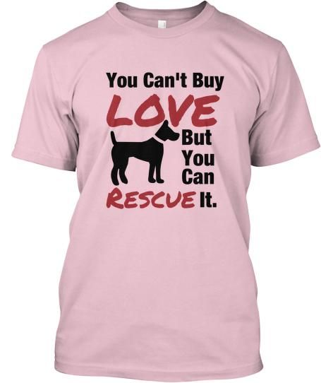 Are you a proud owner of a rescue dog?    Then wear this BOLD shirt and show the world just how much you love your rescue dog!