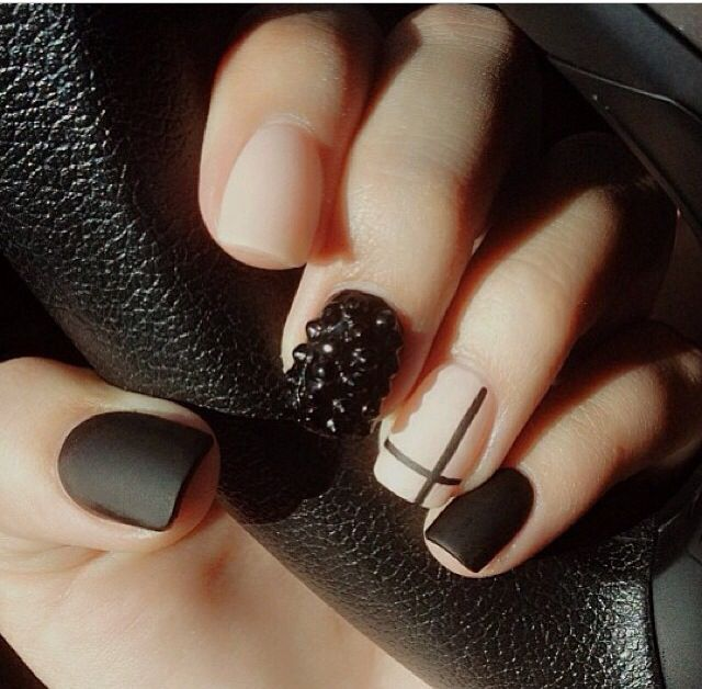 Matte nails. Love all of them