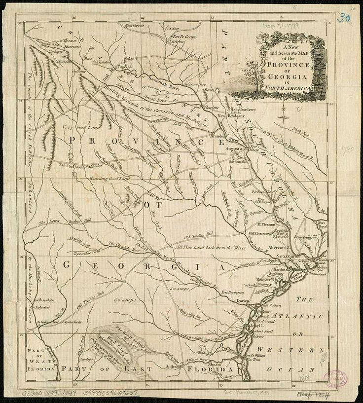 The Province Of Georgia In 1779 Scan By The Boston Public Library Bpl