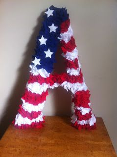 United We Stand: A Military Wife's Journey: Deployment Crafts: Monogram Flag