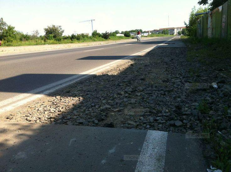 Decupaje in asfalt pe noul tronson al bulevardului Sudului: a inceput… sa se degradeze