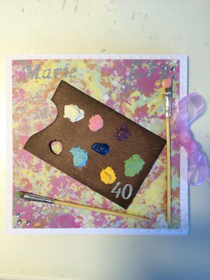 Så här blev det slutgiltiga utformningen av kortet. #40 #kortmakeri #palettcard #palettkort