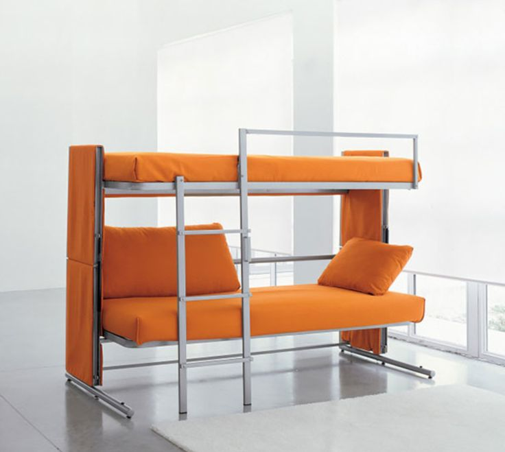 Folding couch that converts into bunk beds!
