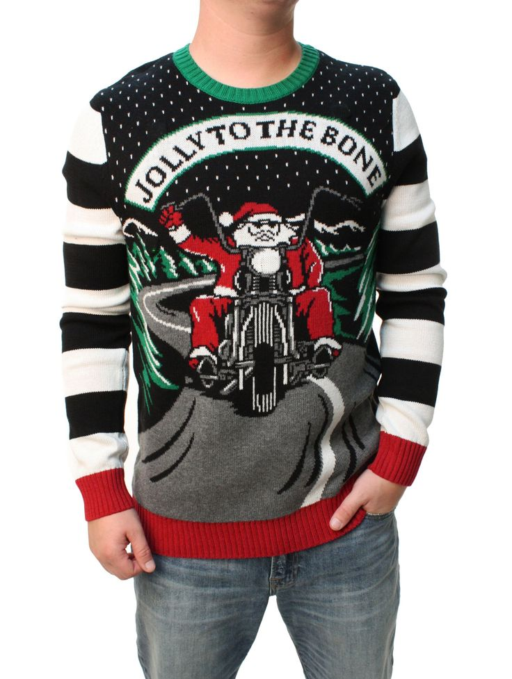Ugly Christmas Sweater Men S Jolly To The Bone Led Light
