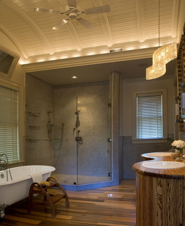 Great Curved Ceiling For Bathroom.