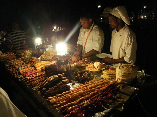 Evening food market at Forodhani Gardens