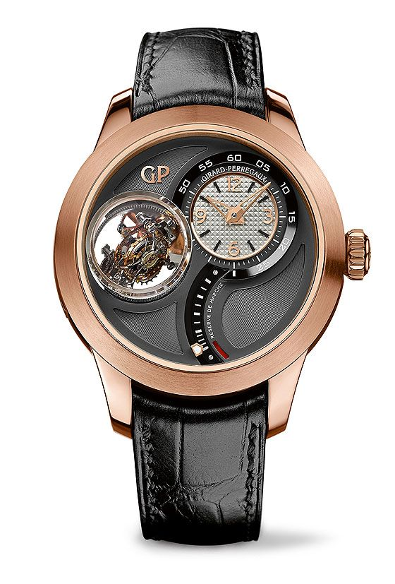 Following up last year's Constant Escapement, Girard-Perregaux flexes its horological muscles again at this year's Baselworld with the introduction of the Girard-Perregaux Tri-Axial Tourbillon, a limited edition of 10 watches in rose-gold cases.