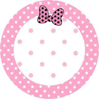 Minnie Mouse: Free Printable Toppers or Labels in pink. Right click and save as