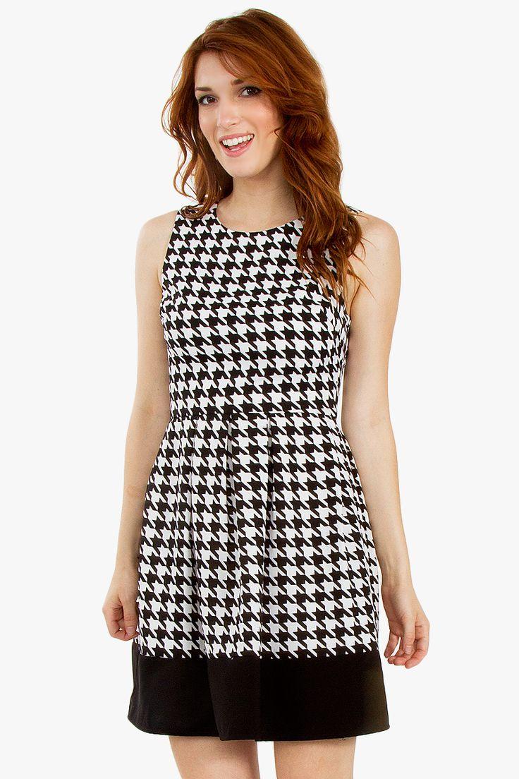 Mod Houndstooth Dress — Katya's Collection