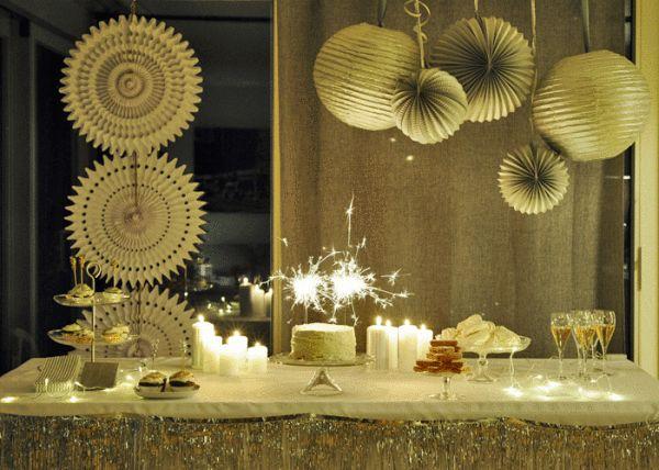 D co de table festive nouvel an pinterest les salon deco de table et salon - Deco buffet salon ...