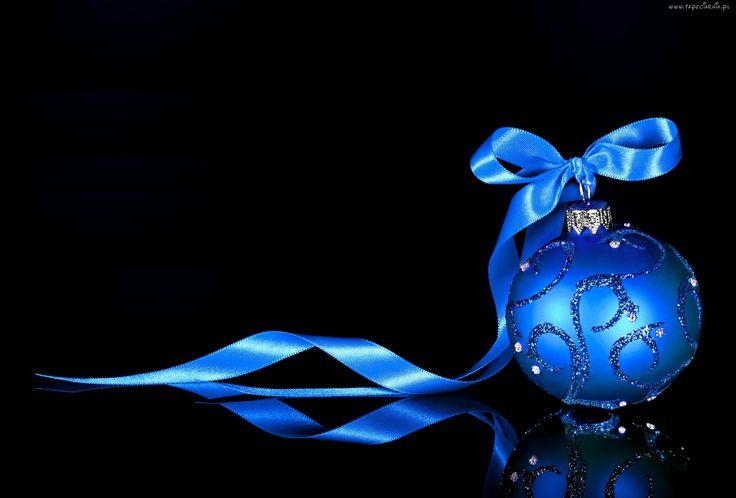 Boże Narodzenie, Niebieska, Bombka