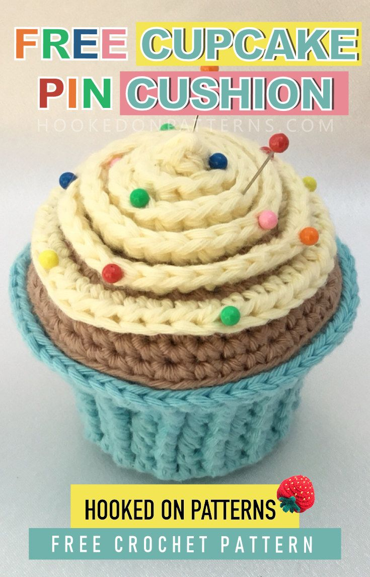 Cupcake Pin Cushion Free Crochet Pattern Crochet Patterns