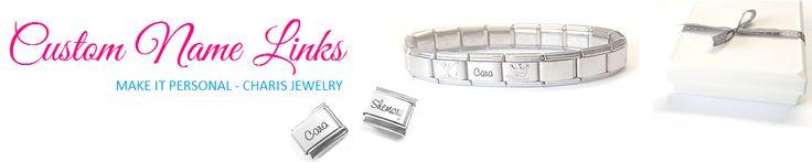 Personalized Custom Name Italian Charm fits Nomination | Charis Jewelry SA