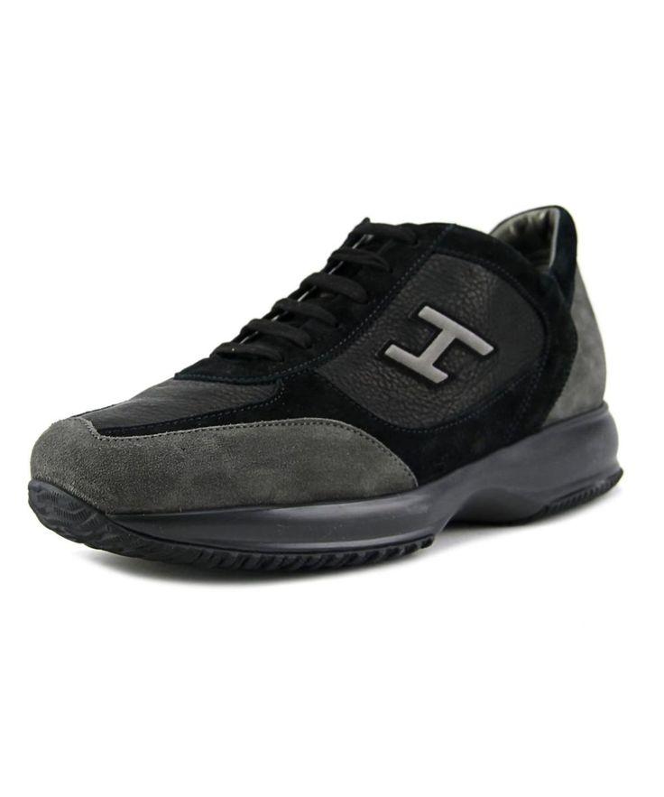 HOGAN Hogan New Interactive Uomo Vintage Men  Round Toe Leather Black Sneakers'. #hogan #shoes #sneakers