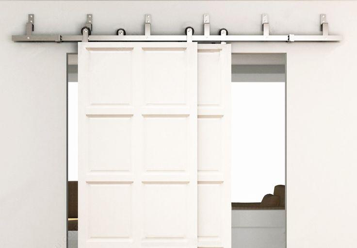 6ft bypass schuifdeuren schuur houten deur hardware for Wood bypass closet doors