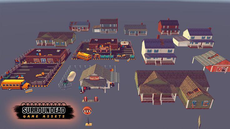 SurrounDead - Survival Game Assets (modular buildings with interiors)   AVAILABLE ON UNITY ASSET STORE: https://www.assetstore.unity3d.com/en/#!/content/76276