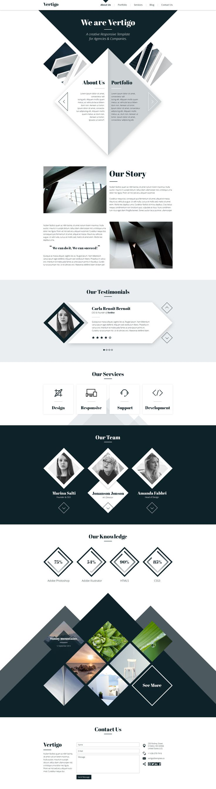 Best Business WordPress Themes - Love the unique geometric shapes here.