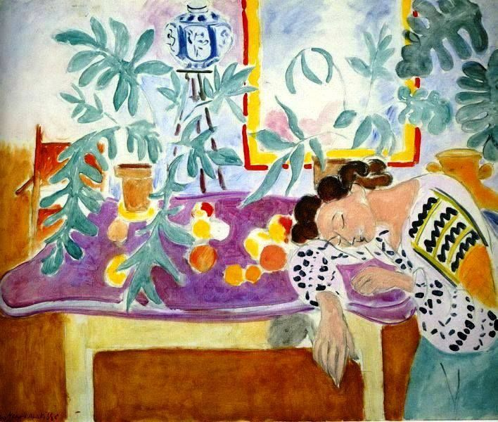 Henri Matisse - Still LIfe with a Sleeping Woman, 1939-40. Oil on canvas, 81cm (31.89 in.) x 100cm (39.37 in.). National Gallery of Art, Washington, DC, USA