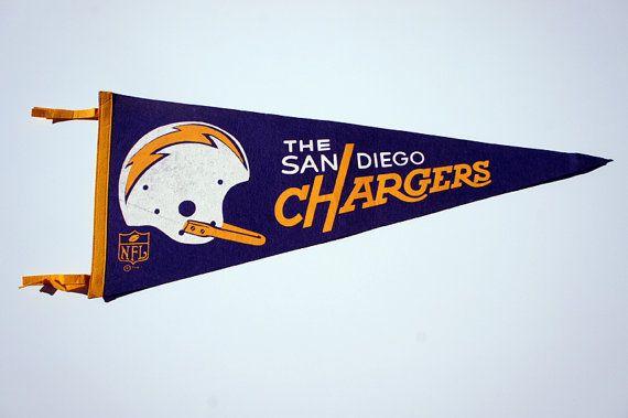 vintage San Diego Chargers pennant 1967