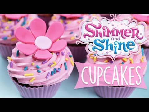 SHIMMER AND SHINE CUPCAKES DIY - YouTube