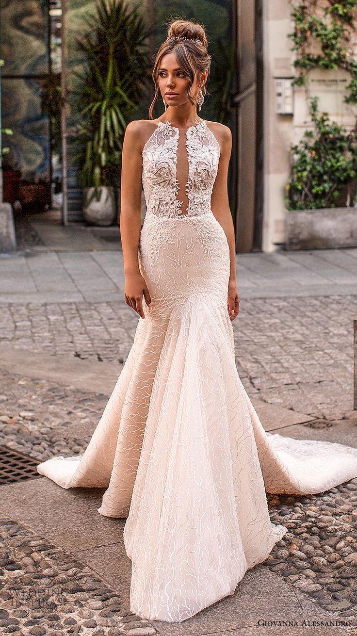 Weddinginspirasi.com mettant en vedette – giovanna alessandro 2019 halte nuptiale sans manches …