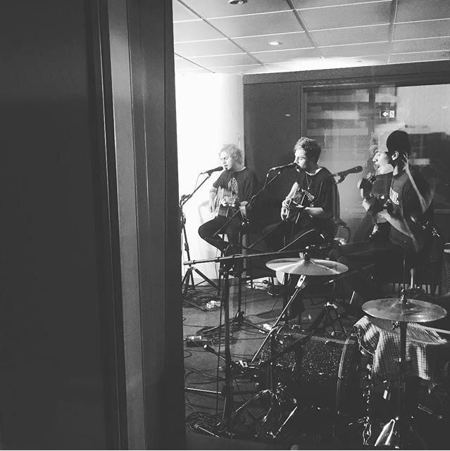 5SOS during their recording for Shazam Top 20 -julz || (@ash_london)